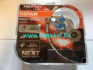 OSRAM NIGHT BREAKER LASER 9005NL 12V HB3 60W +150% IZZÓ DUO