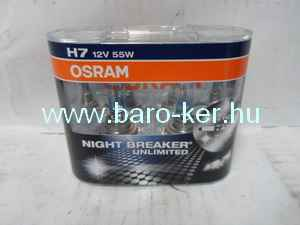OSRAM NIGHT BREAKER UNLIMITED 12V H7 55W DUO IZZÓ