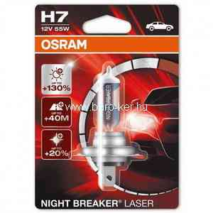 OSRAM NIGHT BREAKER LASER 64193NL  12V H4 60/55W +150% IZZÓ