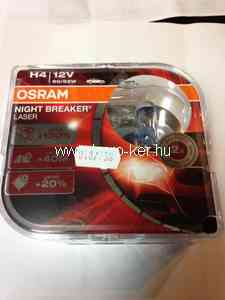 OSRAM NIGHT BREAKER LASER 64193NBL 12V H4 60/55W +130% IZZÓ DUO