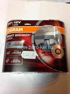 OSRAM NIGHT BREAKER LASER 64210NBL 12V H7 55W +130% IZZÓ DUO